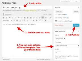 add on templates for pages customize your confirmation and unsubscribe pages