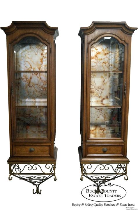 are curio cabinets out of style hellam pair of vintage italian provincial mediterranean