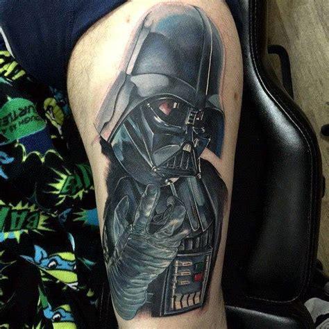 darth vader thigh tattoo geeky tattoos star wars darth vader tattoo on left shoulder