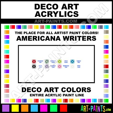 decoart americana writers acrylic paint colors decoart americana writers paint colors
