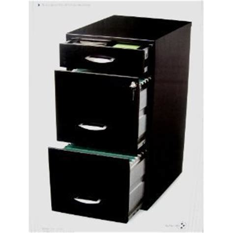 black three drawer filing cabinet vertical