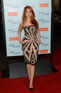 safe haven red dress debby ryan safe haven premiere 06 gotceleb