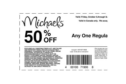 coupon michaels 50