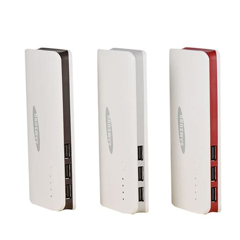 Power Bank Samsung L011 2015 3 usb power bank for samsung powerbank 20000mah external battery for xiaomi iphone backup