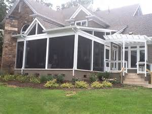 Pergola With Screen by Covered Patio Archadeck Of Charlotte