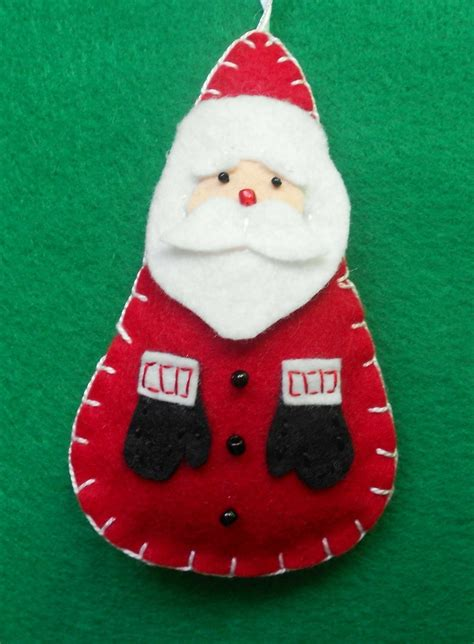 felt santa felt pinterest felt santa ornaments and