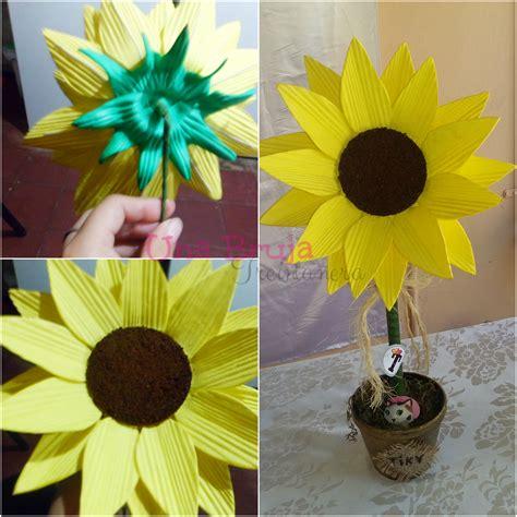 girasoles moldes de flores para hacer arreglos florales en como hacer flores de girasoles una bruja y sus dos sapitos