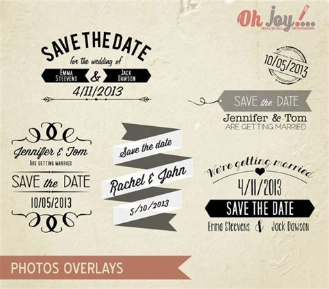 save the date templates photoshop instant save the date photo overlays photoshop