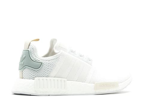 Adidas Nmd R1 Tactile Green W By3033 100 Original best deals on adidas nmd r1 w white tactile green womens casual shoes by3033