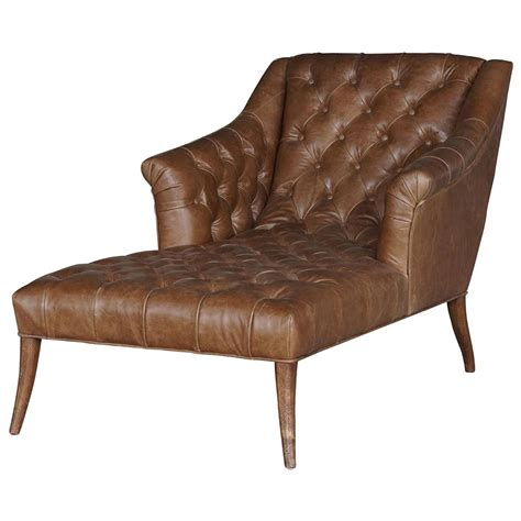 brown leather chaise lounge chair roald rustic lodge brown leather tufted armchair chaise