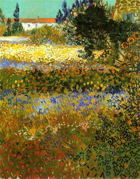 Flowering Garden 1888 Vincent Van Gogh Wikiart Org Gogh Flowering Garden