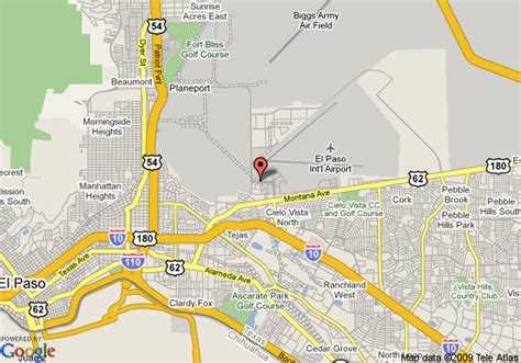 el paso texas on map map of guesthouse inn el paso el paso