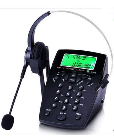 office call center headset telephone set desk phone with