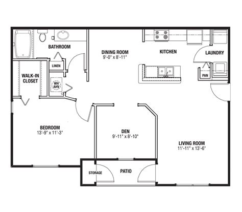 typical square footage of a bedroom 100 450 square foot apartment floor plan floor