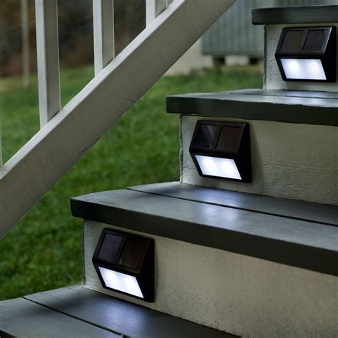 Light Up Your Outdoor Stairway With Plow Hearth Solar Outdoor Step Lights