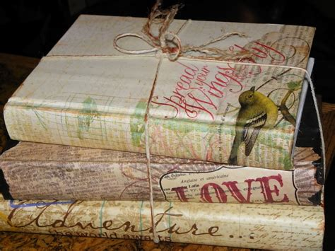 Decoupage Books - a new look for an book the uses for books