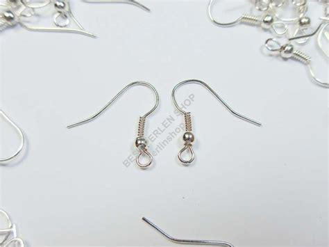 Nägel Halb Lackieren by 150 Ohrhaken Fischhaken Ohrring Ohrfeder Silber 17mm