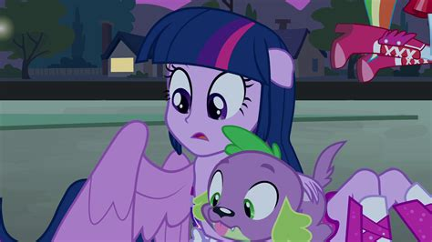 equestria girls twilight and spike image twilight and spike looking in the crater eg png
