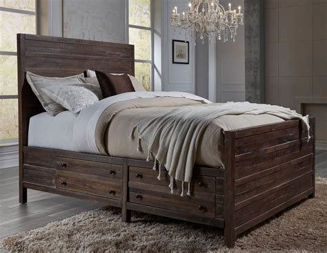 solid wood storage bed modus townsend solid wood storage bed