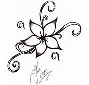 New Vine Flower Tattoo Design