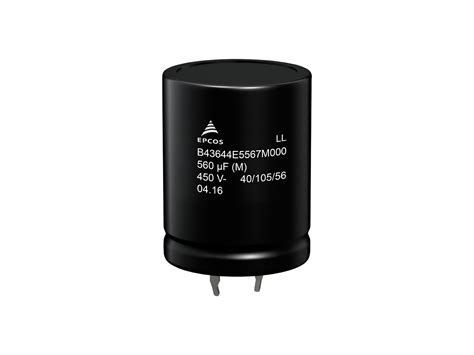 epcos capacitor b43456 epcos aluminum electrolytic capacitors pdf 28 images b43501b9107m000 epcos tdk capacitors