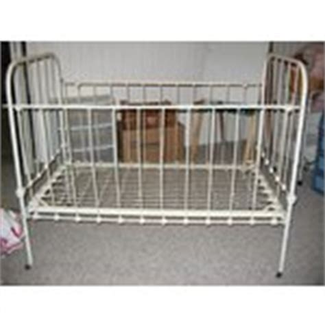 Wrought Iron Crib For Sale by Antique Wrought Iron Steel Baby Doll Crib Bed