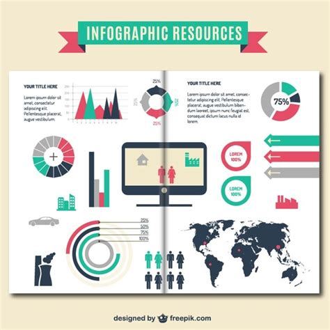 design free resources infographic resources brochure template vector free download