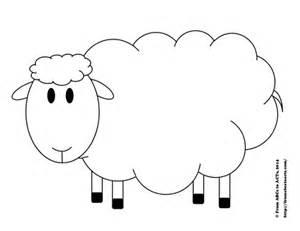 Preschool sheep printable template