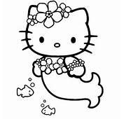 Coloriage A Imprimer Hello Kitty Sirene Gratuit Et Colorier