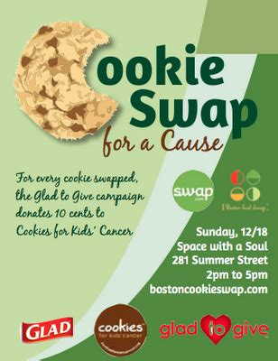 Cookie Swap For A Cause Event Flyer My Portfolio Pinterest Cookie Swap Event Flyers And Cookie Flyer Template