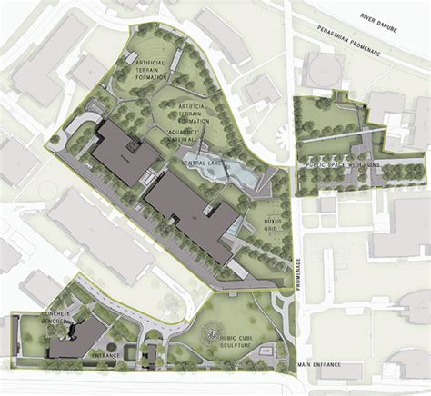 graphisoft park by garten studio 25 site plan color