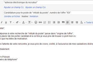inviare curriculum banche email de candidature comment postuler efficacement