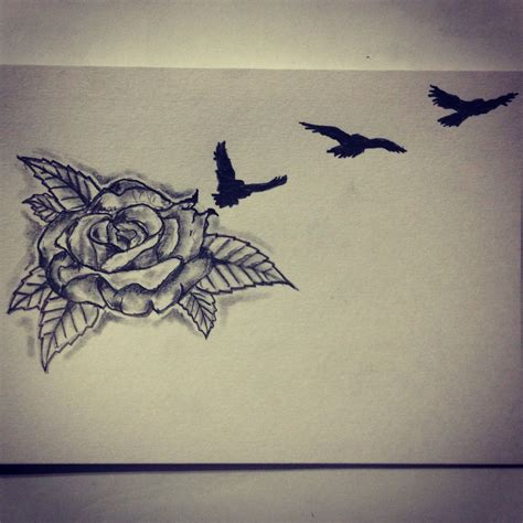 bird and roses tattoo bird sketch d sketches