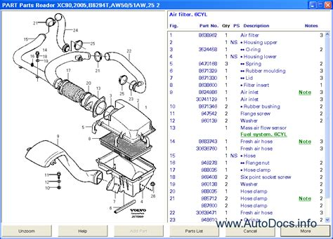 volvo vadis english parts catalog repair manual order