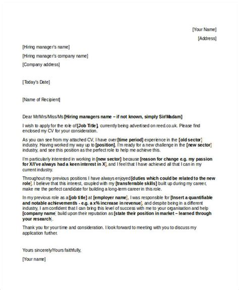 best cover letter for career change cover letter templates
