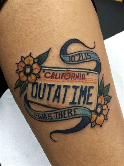 fuckyeahtattoos back to the future tattoo done by robert