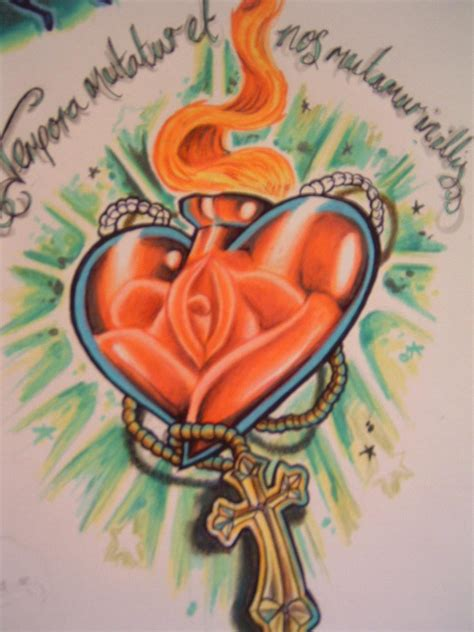 sacred heart tattoo design sacred by chrisxart on deviantart
