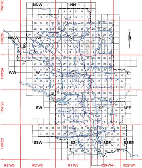 A Section On A Map That Explains The Maps Features by The City Of Calgary Land Use Bylaw 1p2007 Maps