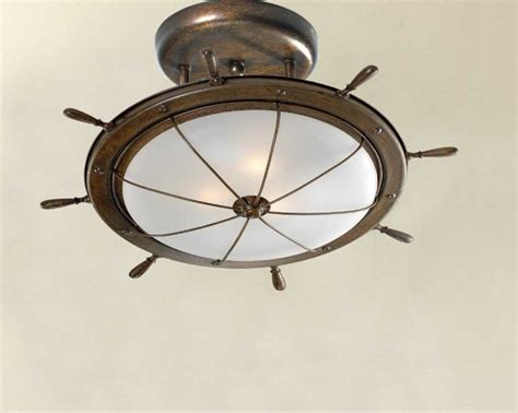 Nautical Ceiling Light Nautical Light Fixtures Ceiling Lighting With Matte Bowl Shaped Glass Home Interior Exterior