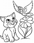 Cat Animal Coloring Pages