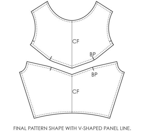pattern allowances with diagrams fundamentals of pattern making v shaped panel lines diy