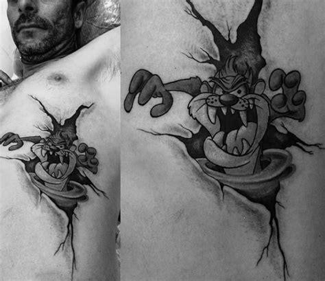 ripped skin tasmanian devil tattoo golfian com