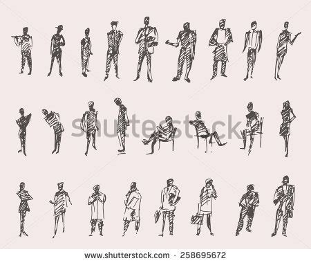 how to section a person sketch people stock images royalty free images vectors