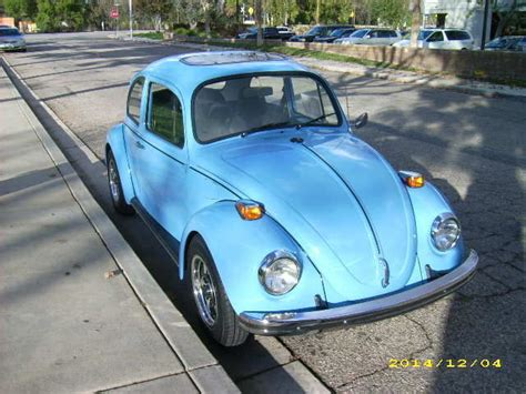 vw beetle fresh restoration custom paint sunroof wheels   classic volkswagen