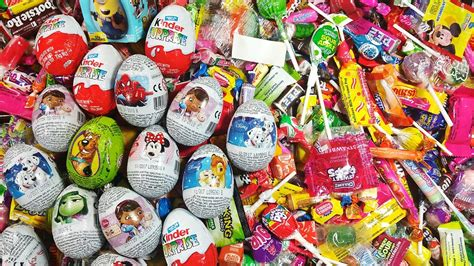 lots of a lot of new organic candies lots of eggs