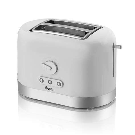 White Toaster B M Swan 2 Slice Toaster White 3033022 B M