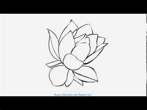 how to draw a beautiful lotus flower | yzarts | yzarts