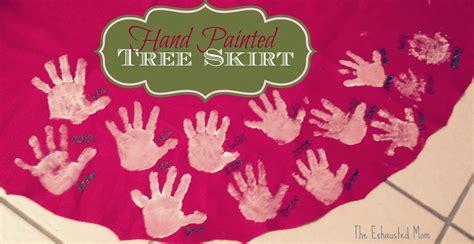 handprint christmas tree skirt christmas decore
