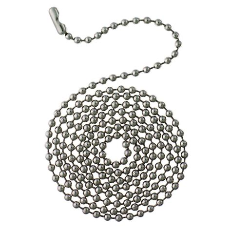 beaded chain connector westinghouse 12 ft chrome beaded chain with connector