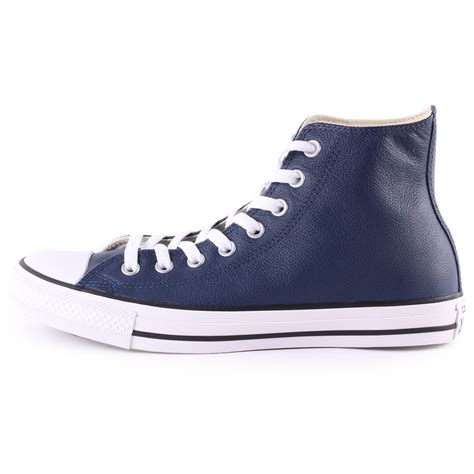 Converse All Hi Navy converse all leather hi nighttime mens trainers